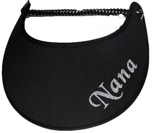 Foam sun visor with Grandma nickname Nana in silver
