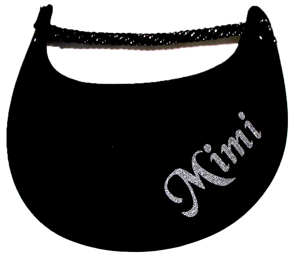 Foam sun visor with Grandma nickname Mimi in silver