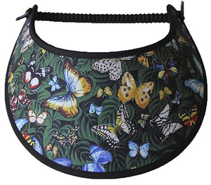 Foam sun visor colorful butterflies & leaves