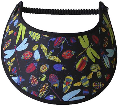 Foam sun visor with dragonflies & assorted bugs