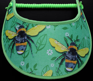 Foam sun visor with large bees