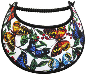 Foam sun visor with butterflies in assorted size and colors