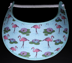 Foam sun visor with flamingoes and lily pads