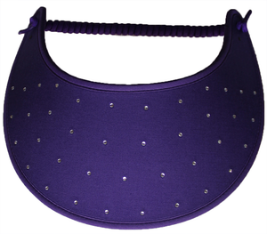 Foam Sun Visor with rhinestones on purple