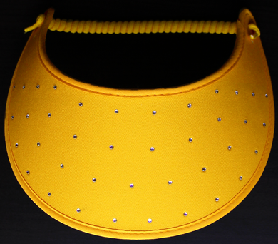 Foam Sun Visor with rhinestones on gold