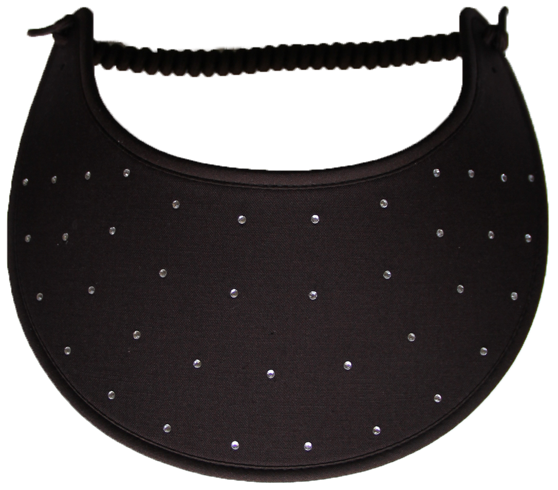 Foam Sun Visor with rhinestones on brown