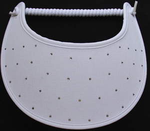 Foam Sun Visor with rhinestones on white