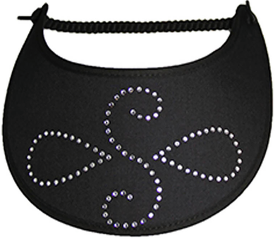 Foam Sun Visor with rhinestone design on black