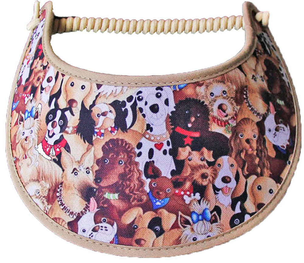 Foam sun visor with different breed of dogs