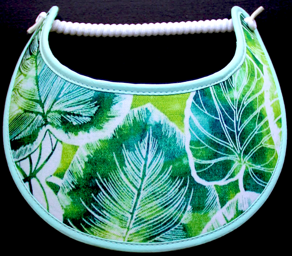 Foam sun visor with large leaves