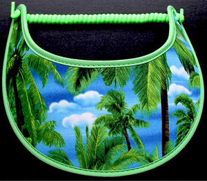 Foam sun visor with palm trees