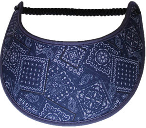 Foam sun visor with blue bandana