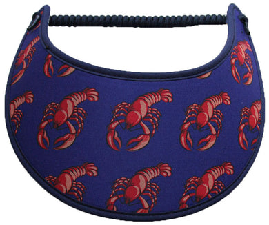 Foam sun visor lobsters on blue