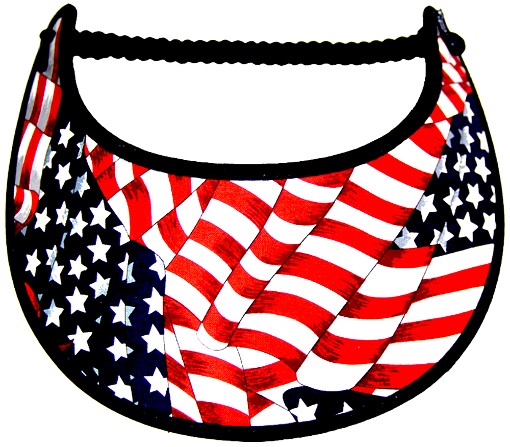 Foam sun visor with Old Glory