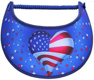 Foam sun visor with flag balloon and stars