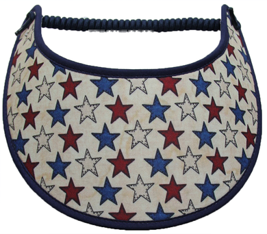 Foam sun visor with stars on tan: