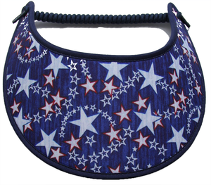 Foam sun visor with stars on blue
