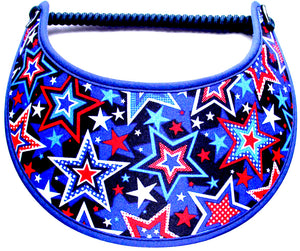 Foam sun visor with many stars of various sizes