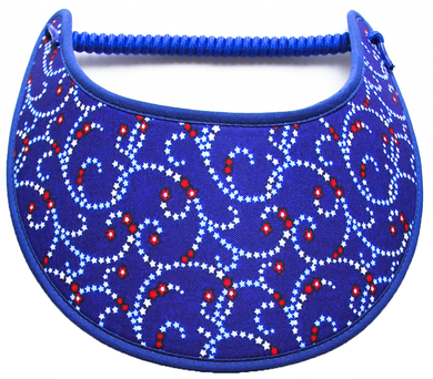 Foam sun visor with tiny stars on blue
