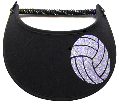 Foam sun visor with silver volley ball