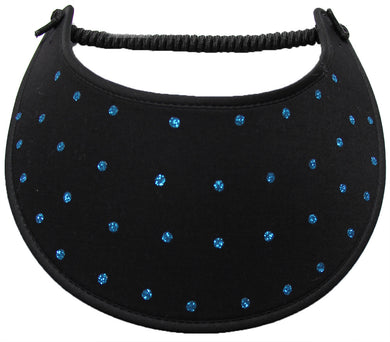GBA702 TURQUOISE  GLITZ DOTS ON BLACK