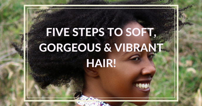 EBook - Five Steps To Soft, Gorgeous, Vibrant Natural Hair