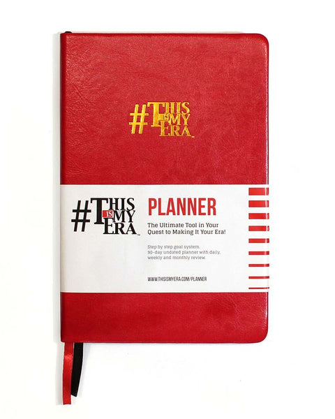 #ThisIsMyEra Planner - Red