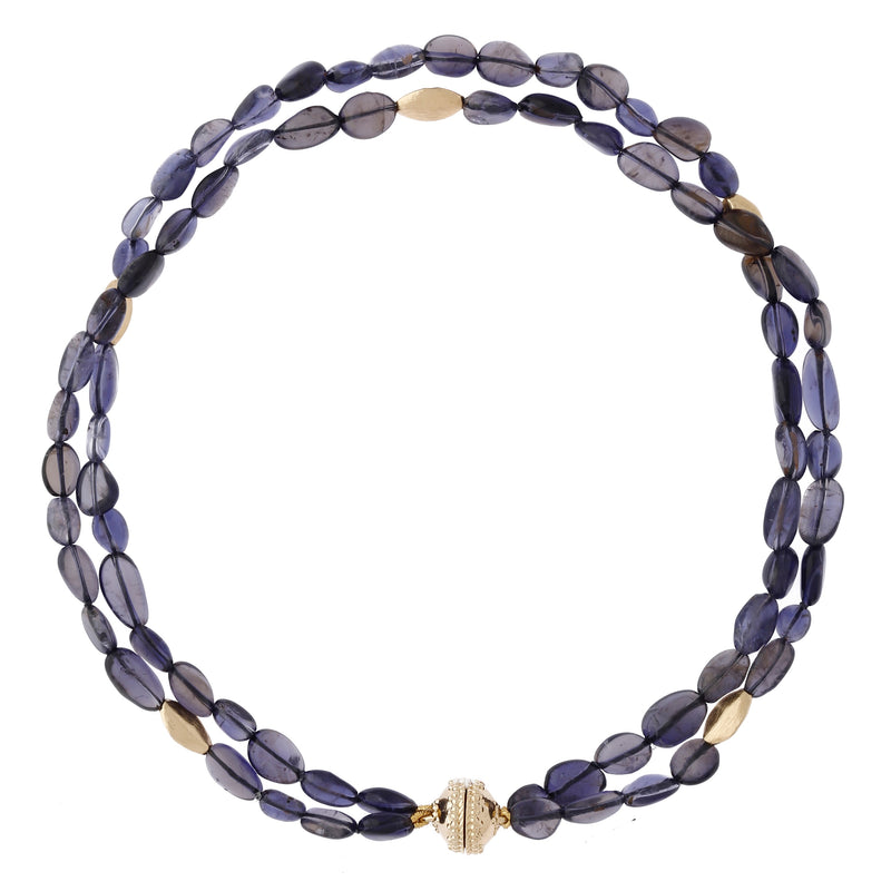 Gold Rush Iolite Double Strand Necklace