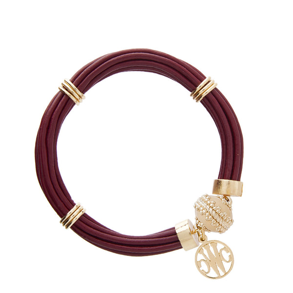 Aspen Leather Mulberry Bracelet