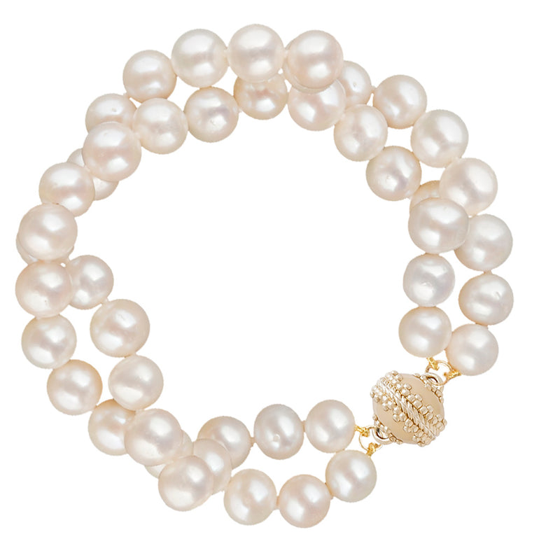 Potato Pearl Double Strand Bracelet