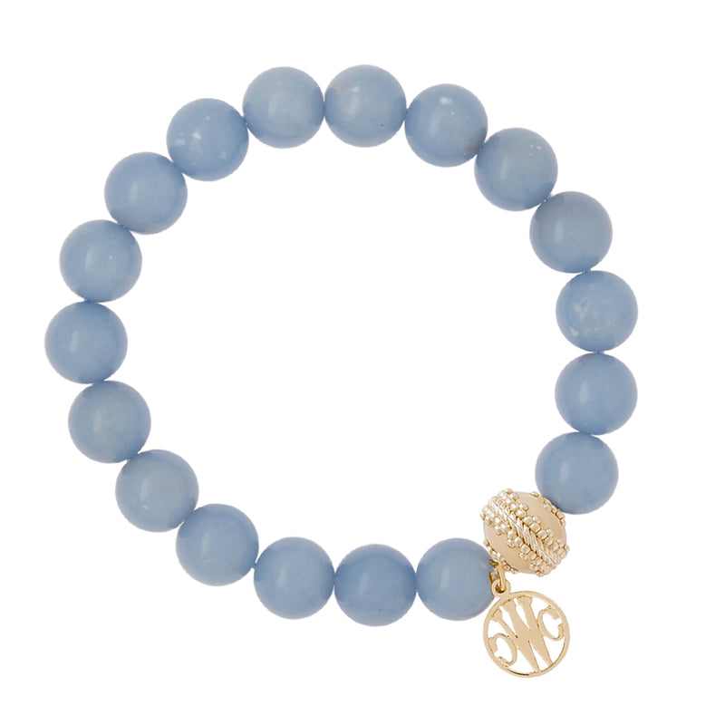 Victoire Angelite Stretch Bracelet 10mm
