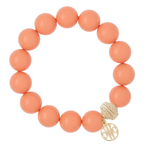 Victoire Dark Peach Coral Stretch Bracelet 14mm