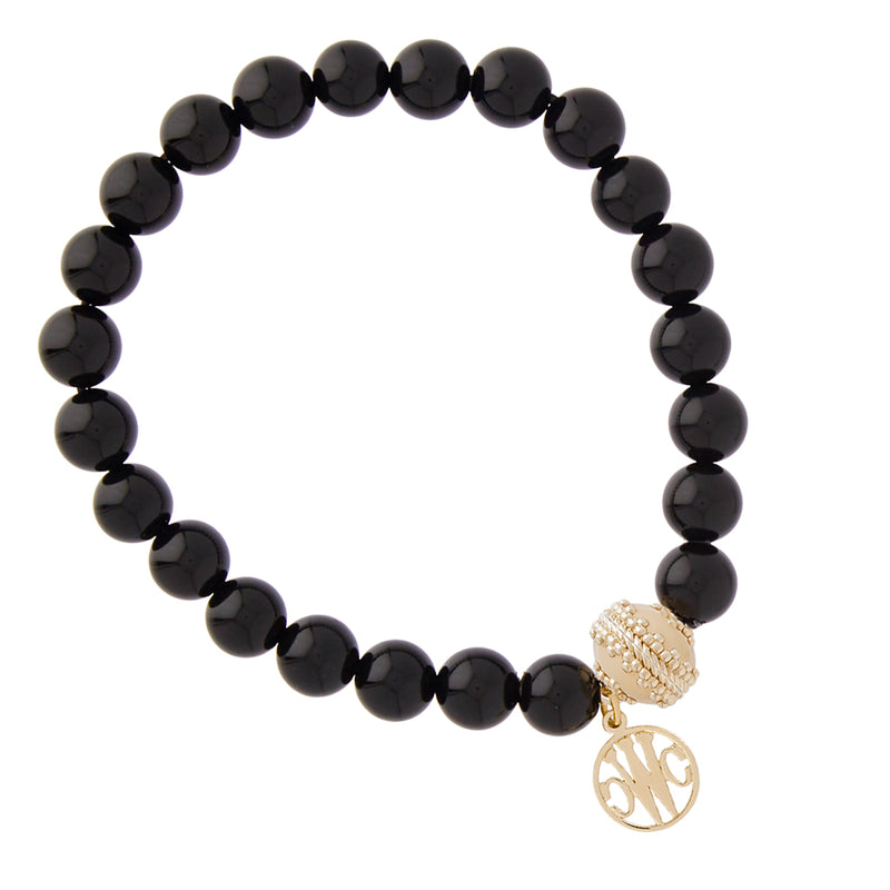 Victoire Black Onyx Stretch Bracelet