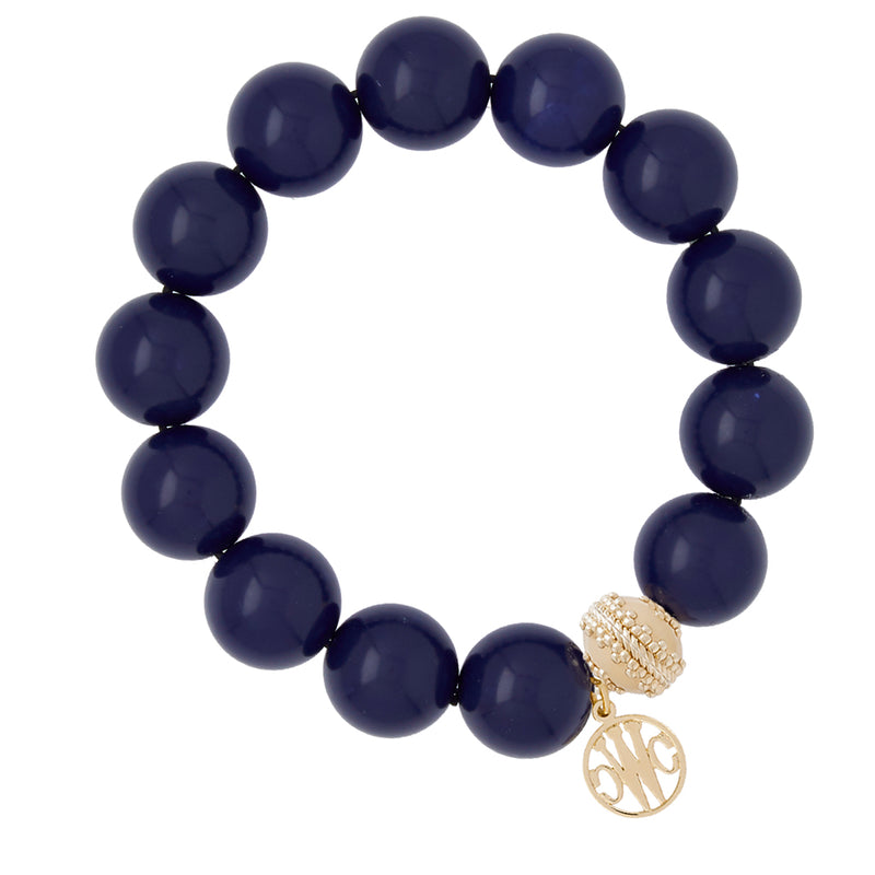 Victoire Lapis Stretch Bracelet 16mm