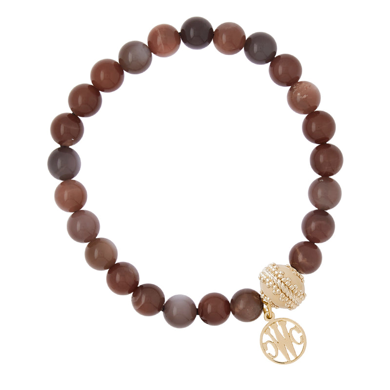 Victoire Chocolate Moonstone Stretch Bracelet