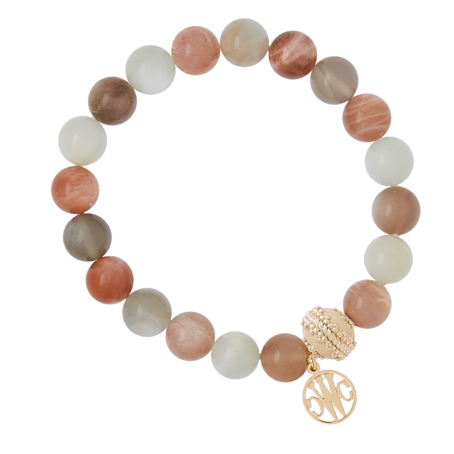 Victoire Blush Mixed Stone Stretch Bracelet