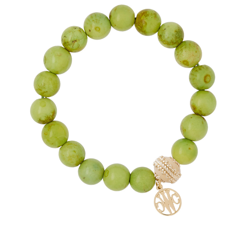 Victoire Green Stretch Bracelet