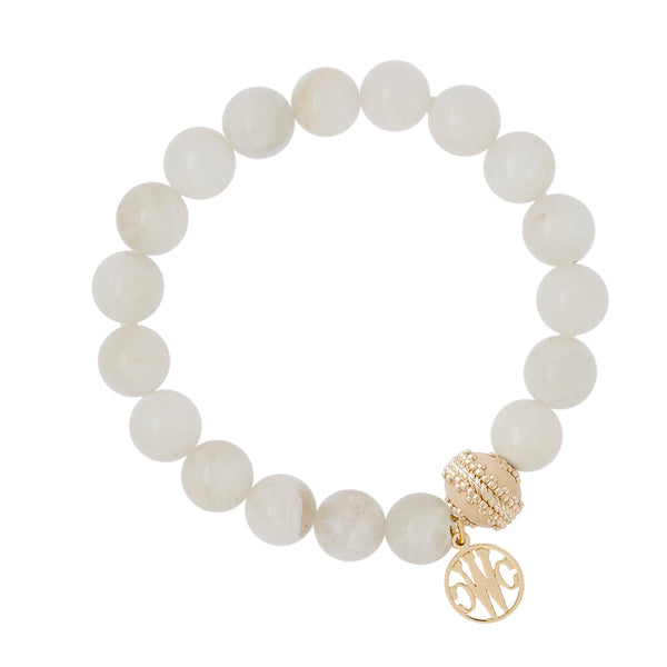 Victoire Moonstone Stretch Bracelet 10mm