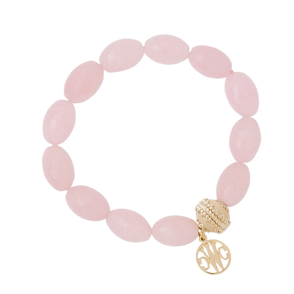 Oval Pink Jade Stretch