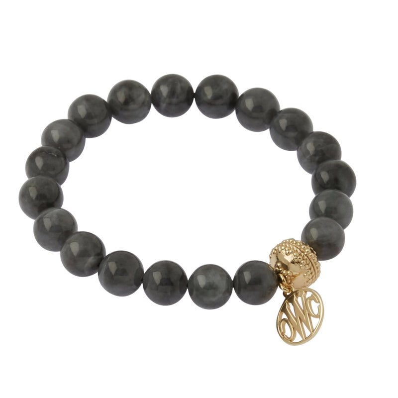 Victoire Black Jade Stretch Bracelet 10mm