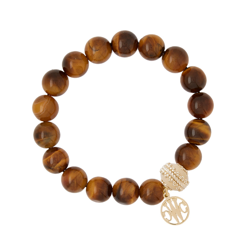 Victoire Tiger's Eye Stretch Bracelet  10mm