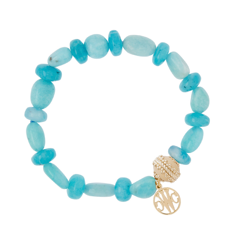 Amazonite Rhondelle Stretch Bracelet