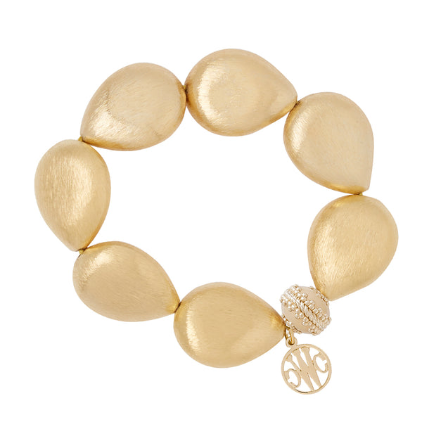 Gold Rush Teardrop Stretch Bracelet