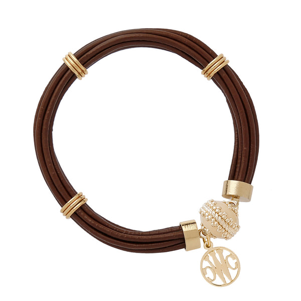 Aspen Leather Chocolate Bracelet