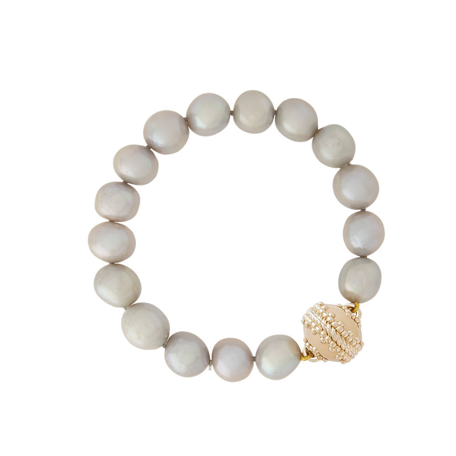 Gray Potato Pearl Bracelet