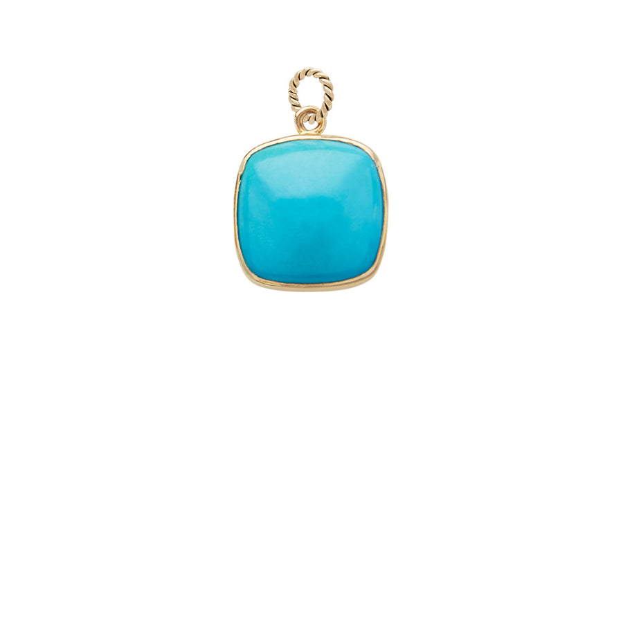 Sleeping Beauty Turquoise Square Charm