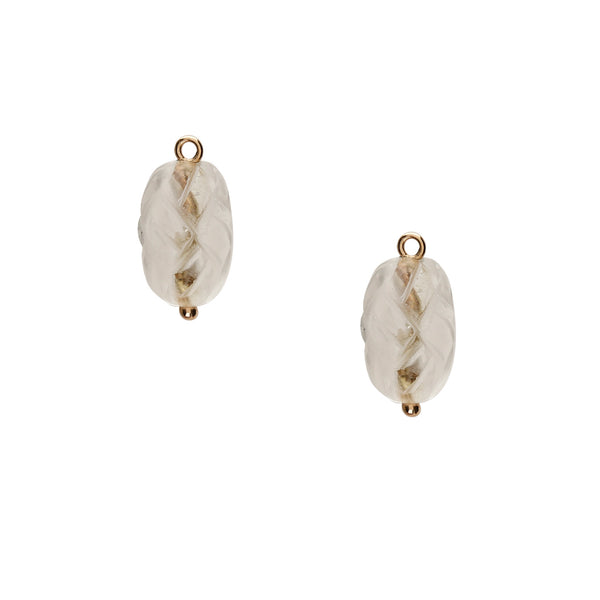 Rock Crystal Carved Earring Drops