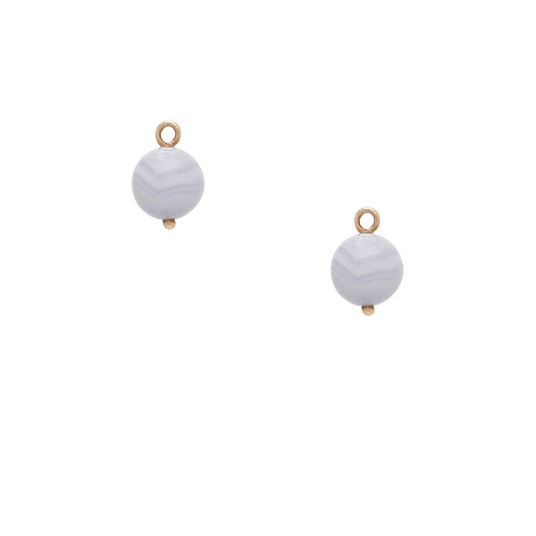 Victoire Blue Lace Agate 10mm Earring Drops