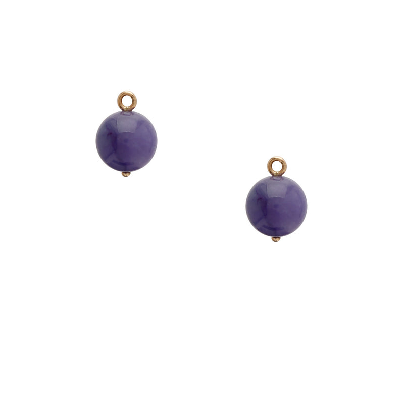 Victoire Purple Jade 12mm Earring Drops