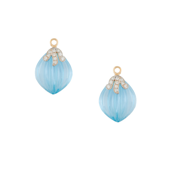 18K Mini Seaside Blue Earring Drops